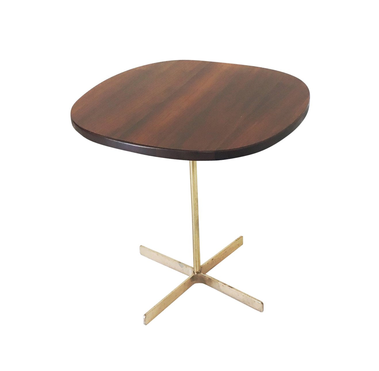 Allan Gould Side Table with Brass Base, circa 1950's - The Space Detroit