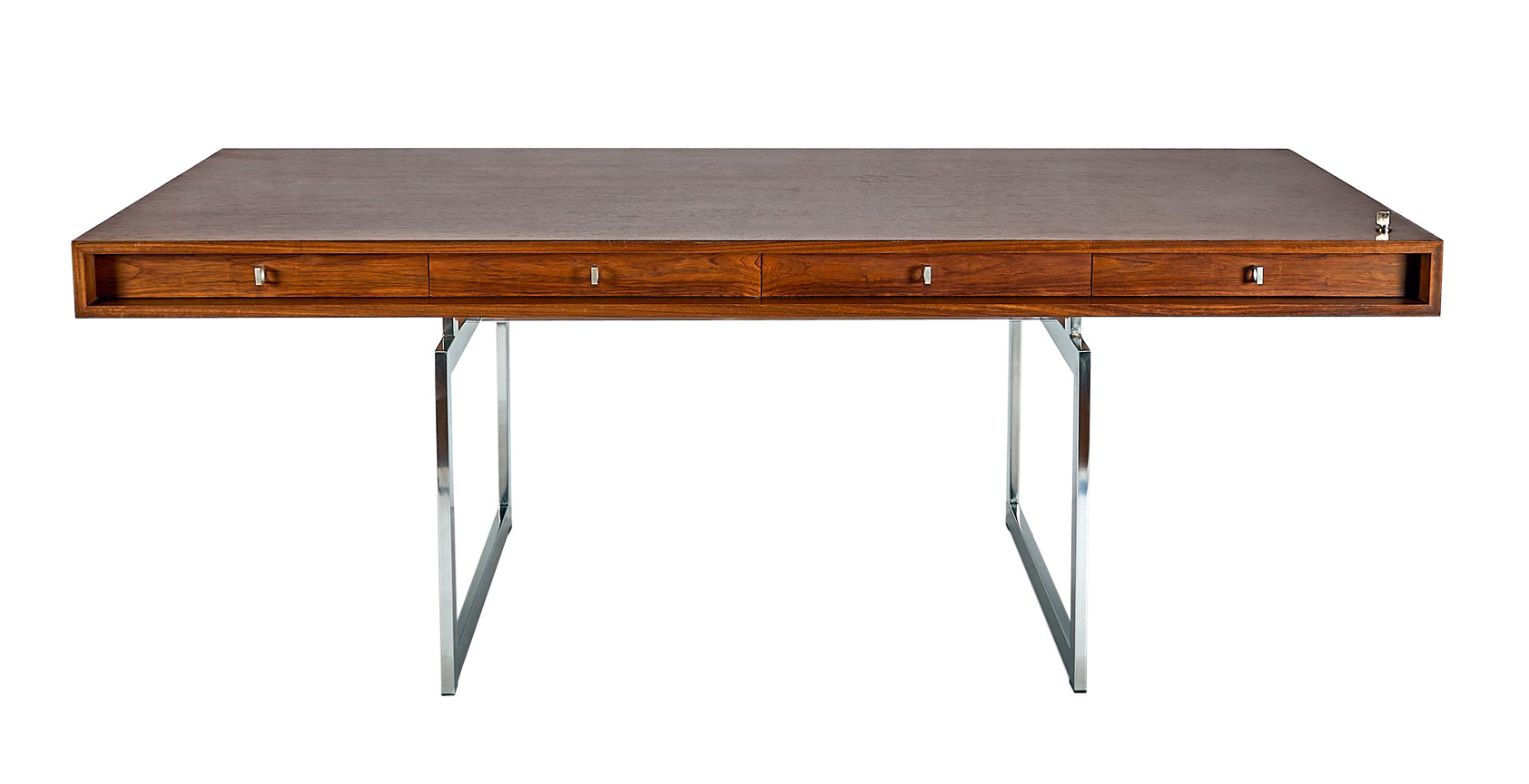 Early Bodil Kjaer Desk in Rosewood with Four Drawers, circa 1960's - The Space Detroit