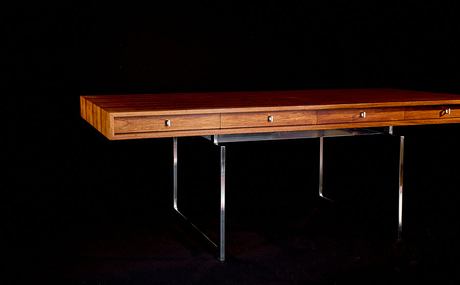 Early Bodil Kjaer Desk in Rosewood with Four Drawers, circa 1960's