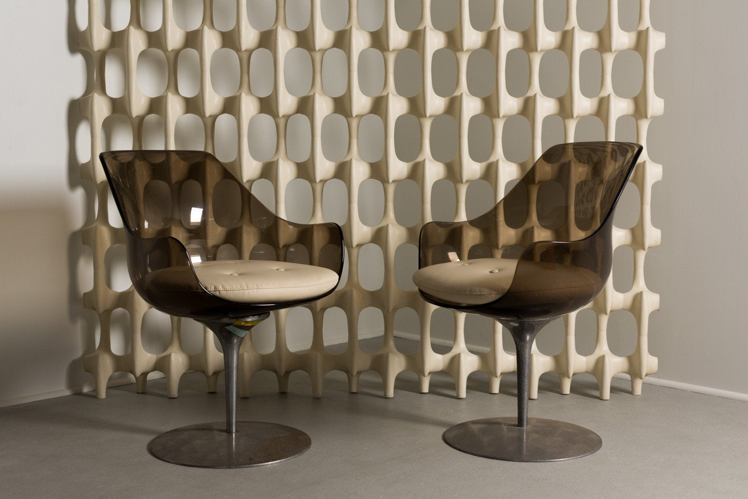 Erwine & Estelle Laverne Champagne Chairs, Set of Four, 1960s