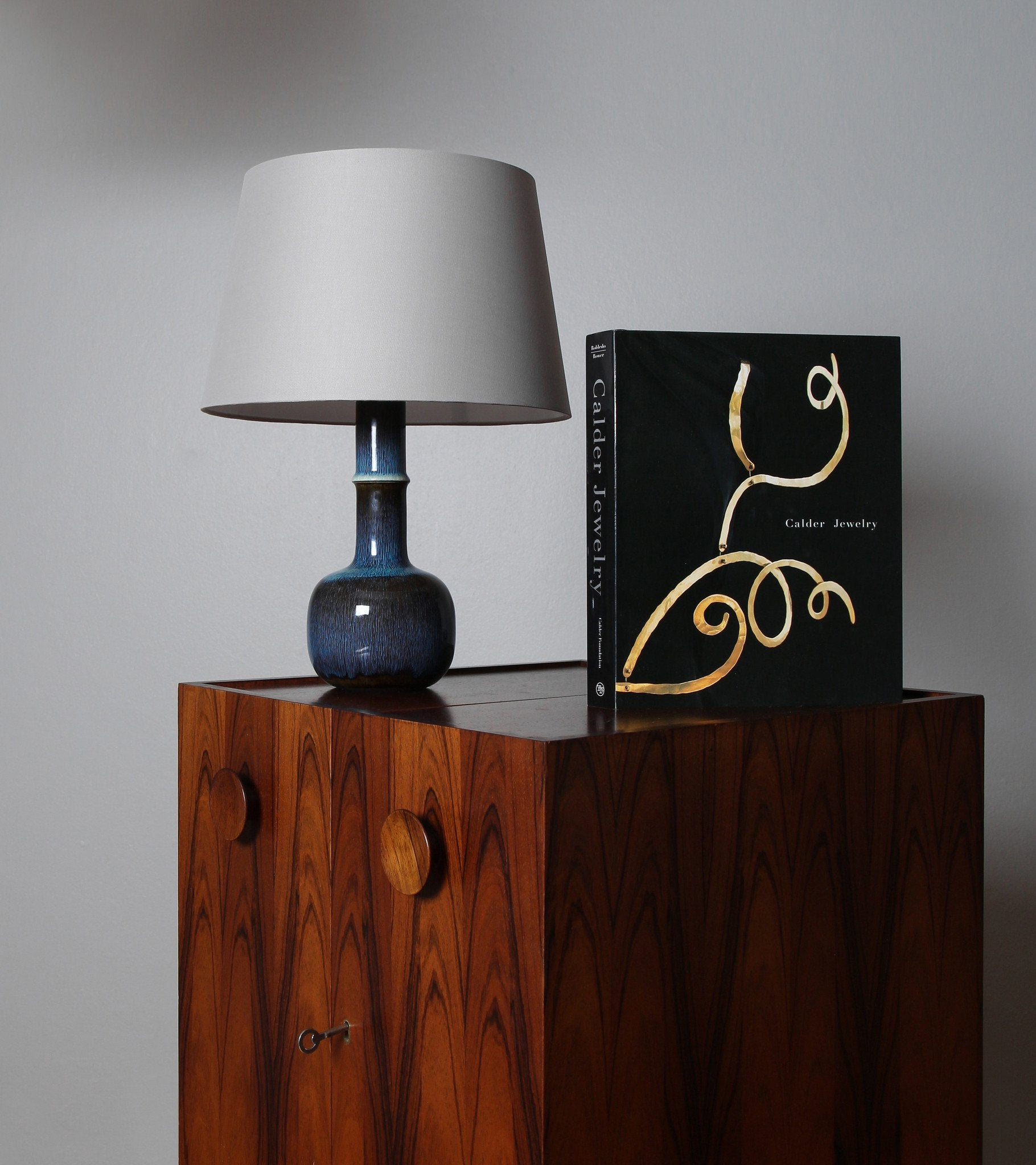 Carl-Harry Stålhane Unique Table Lamp, Rörstrand Ab, Sweden, 1950s