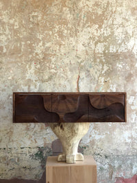Caleb Woodard Carved Wall Mounted Cabinet - The Exchange Int
