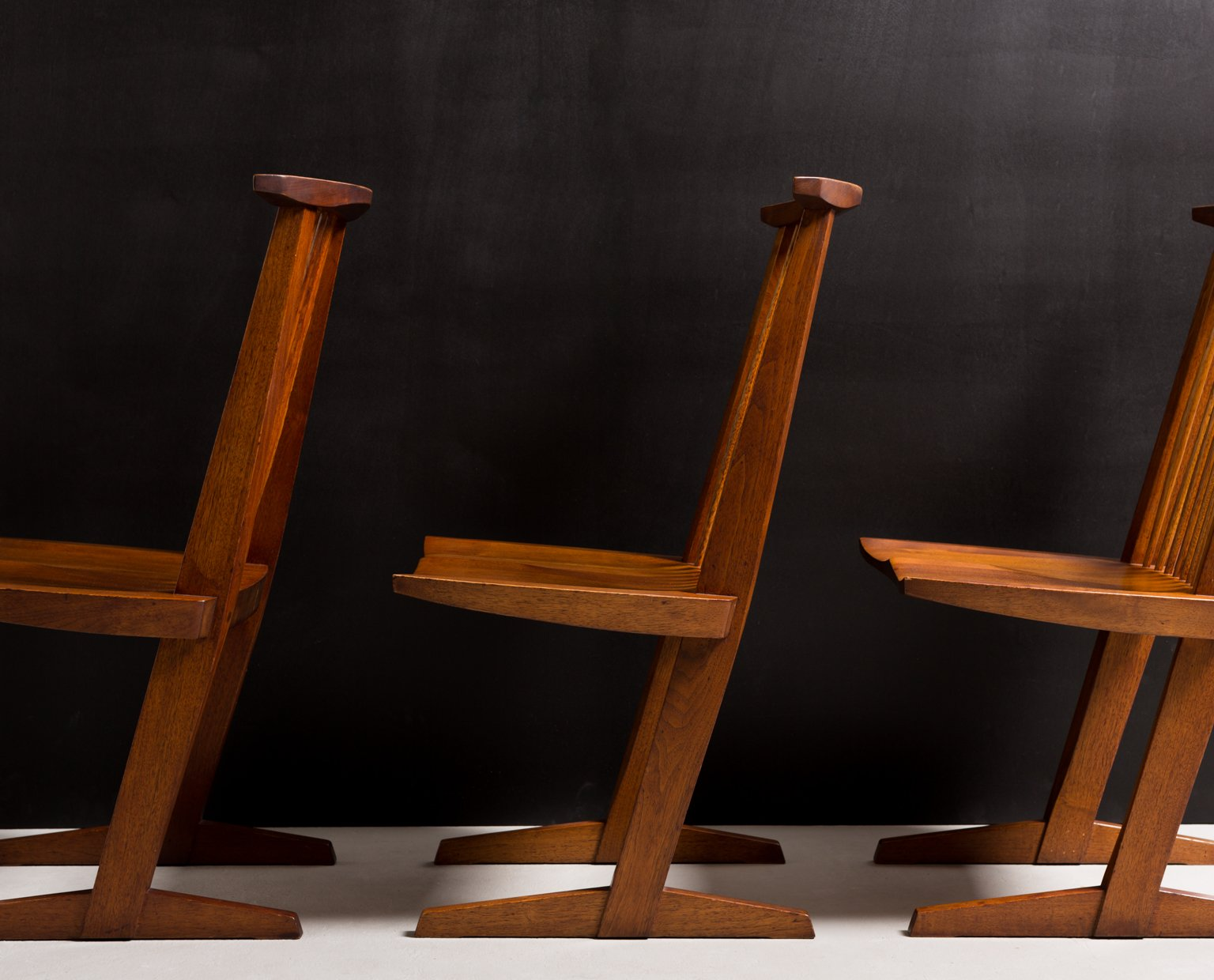 George Nakashima Set of Six Conoid Chairs 1969