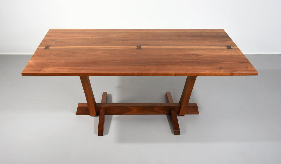 George Nakashima Conoid Dining Table in Walnut and Rosewood, 1970s