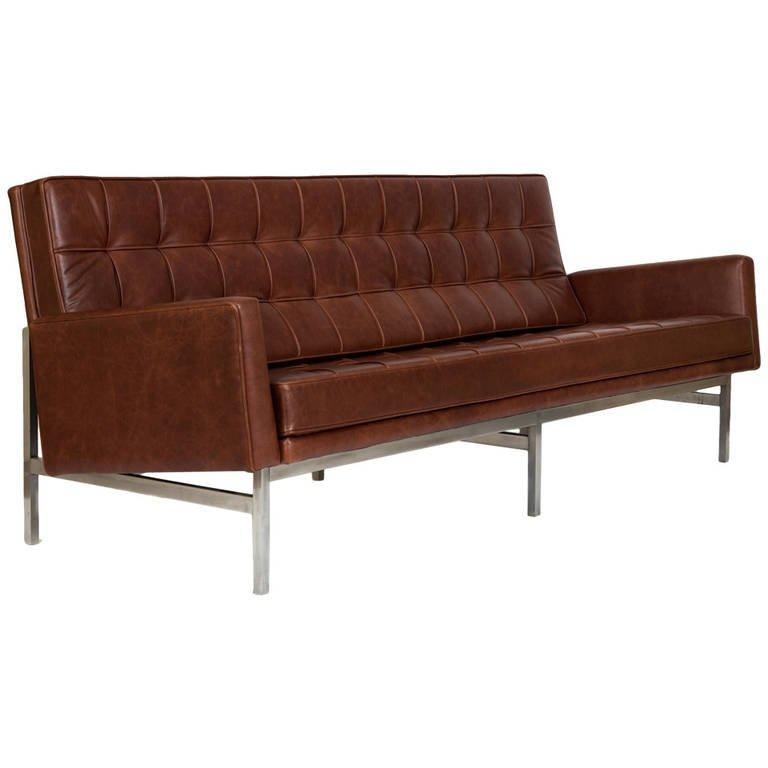 Florence Knoll Sofa, Model 2577 in Leather, 1955 - The Exchange Int