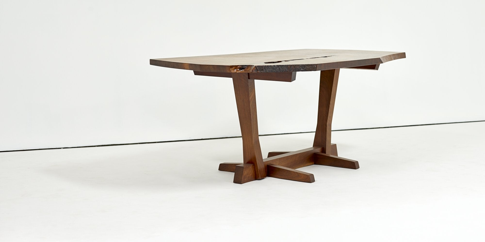 George Nakashima Conoid Table with Single Board Walnut Surface 1983