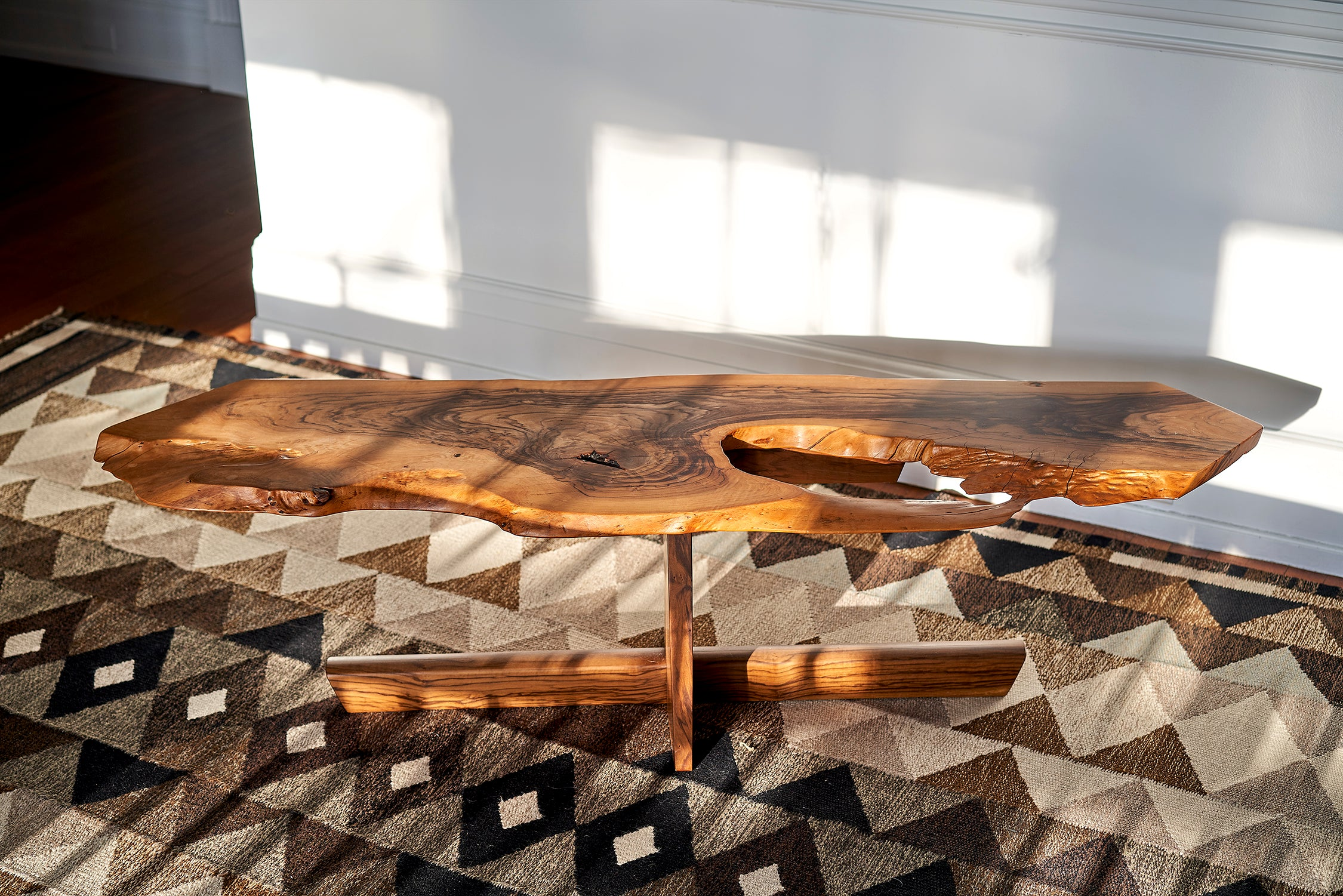 George Nakashima Minguren Coffee Table in Olive Wood