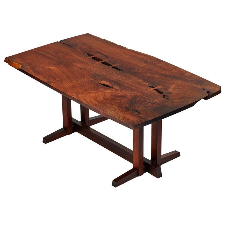 "Commissioned Masterwork, George Nakashima ""Single Board"" Solid Rosewood Table"