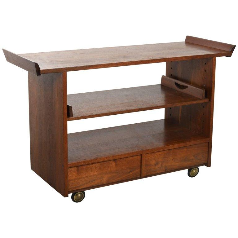 George Nakashima Tea / Bar Cart in Walnut, 1965 - The Exchange Int