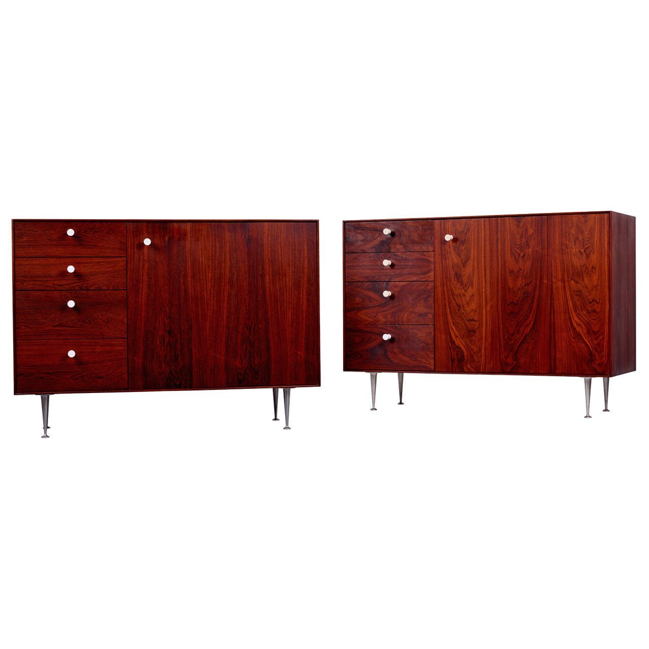 George Nelson & Associates Thin Edge Cabinets in Rosewood, 1952 - The Exchange Int