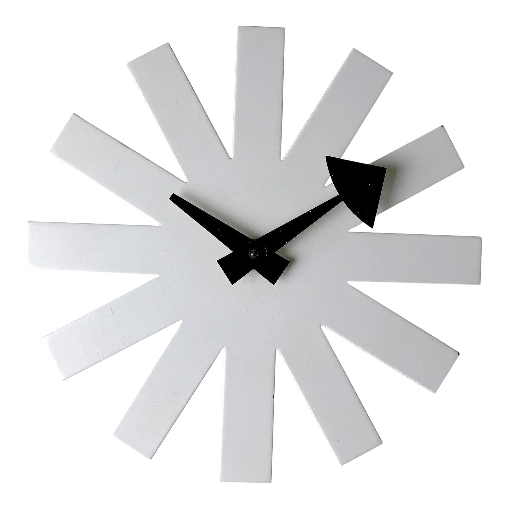 George Nelson for Howard Miller White Asterisk Clock, 1950's - The Space Detroit