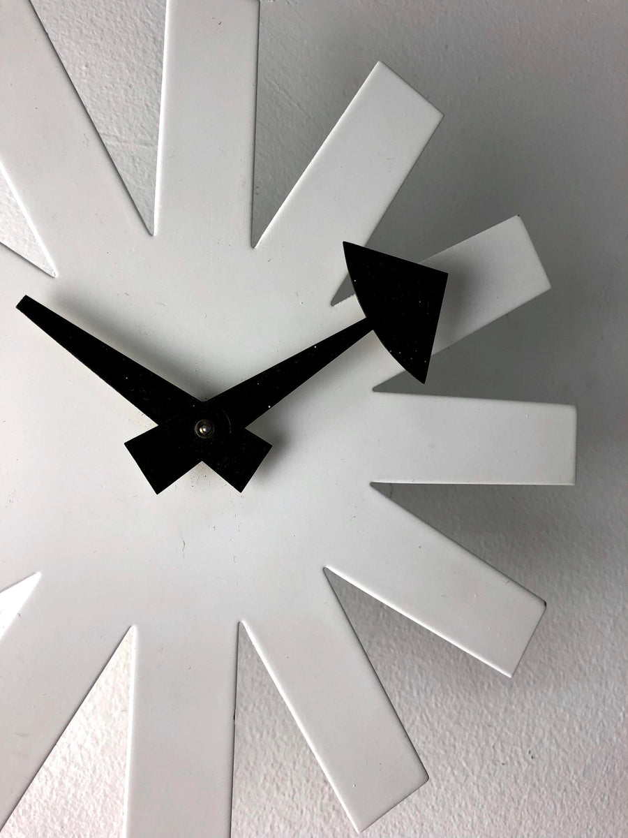 George Nelson for Howard Miller White Asterisk Clock, 1950's