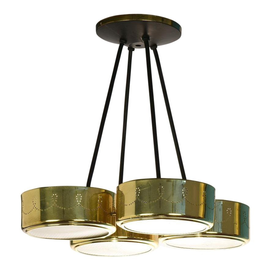 Gerald Thurston for Lightolier Four Shade Chandelier, circa 1960's - The Space Detroit