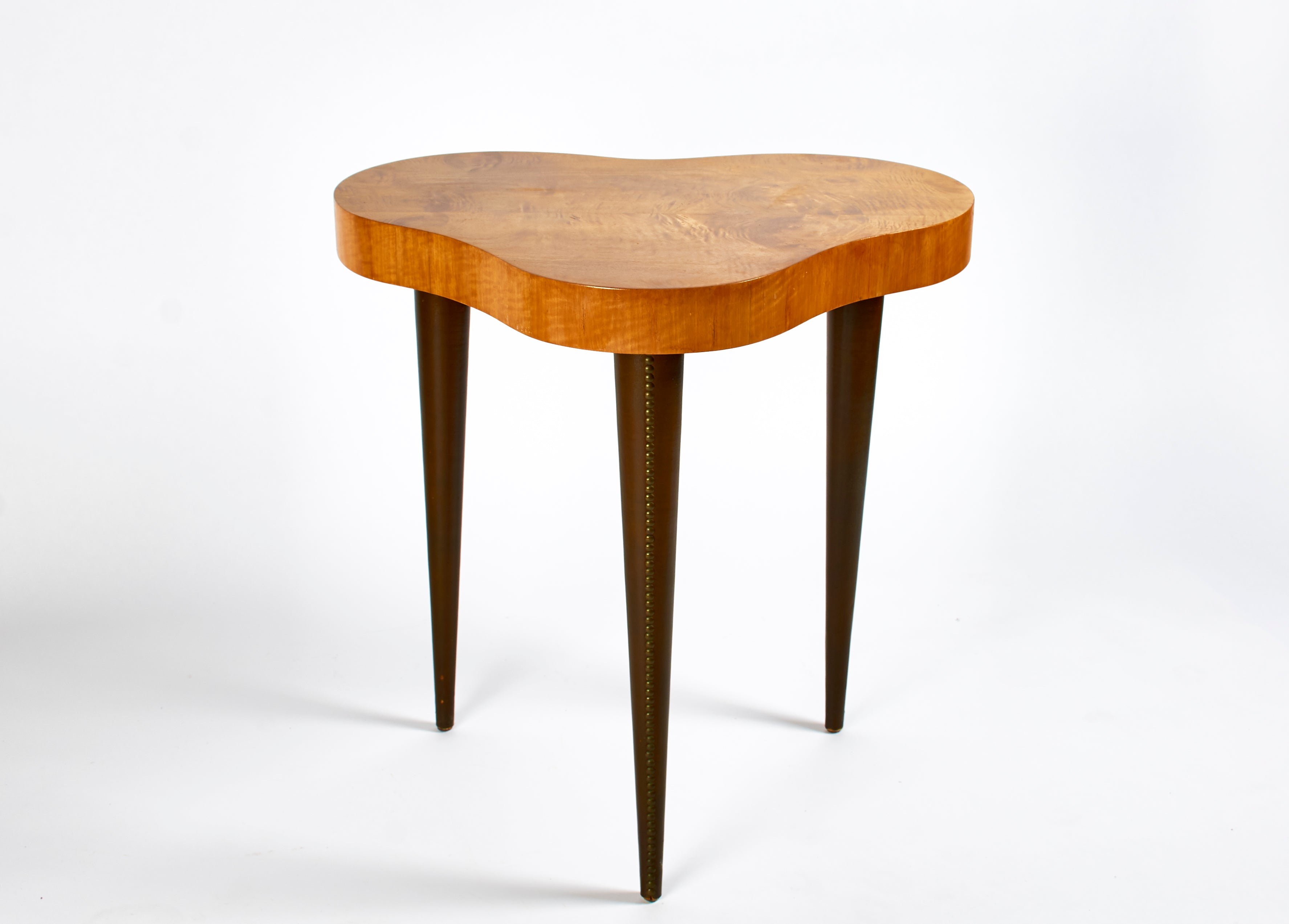 Gilbert Rohde Table with Burl Surace Model 4187 circa 1941