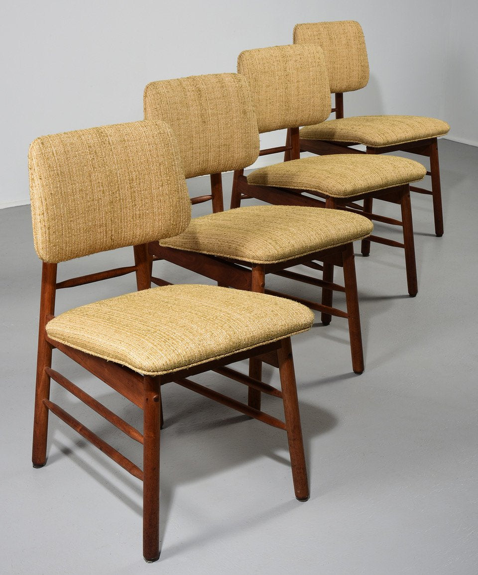Greta Grossman Set of Four Chairs Model 6260 circa 1952