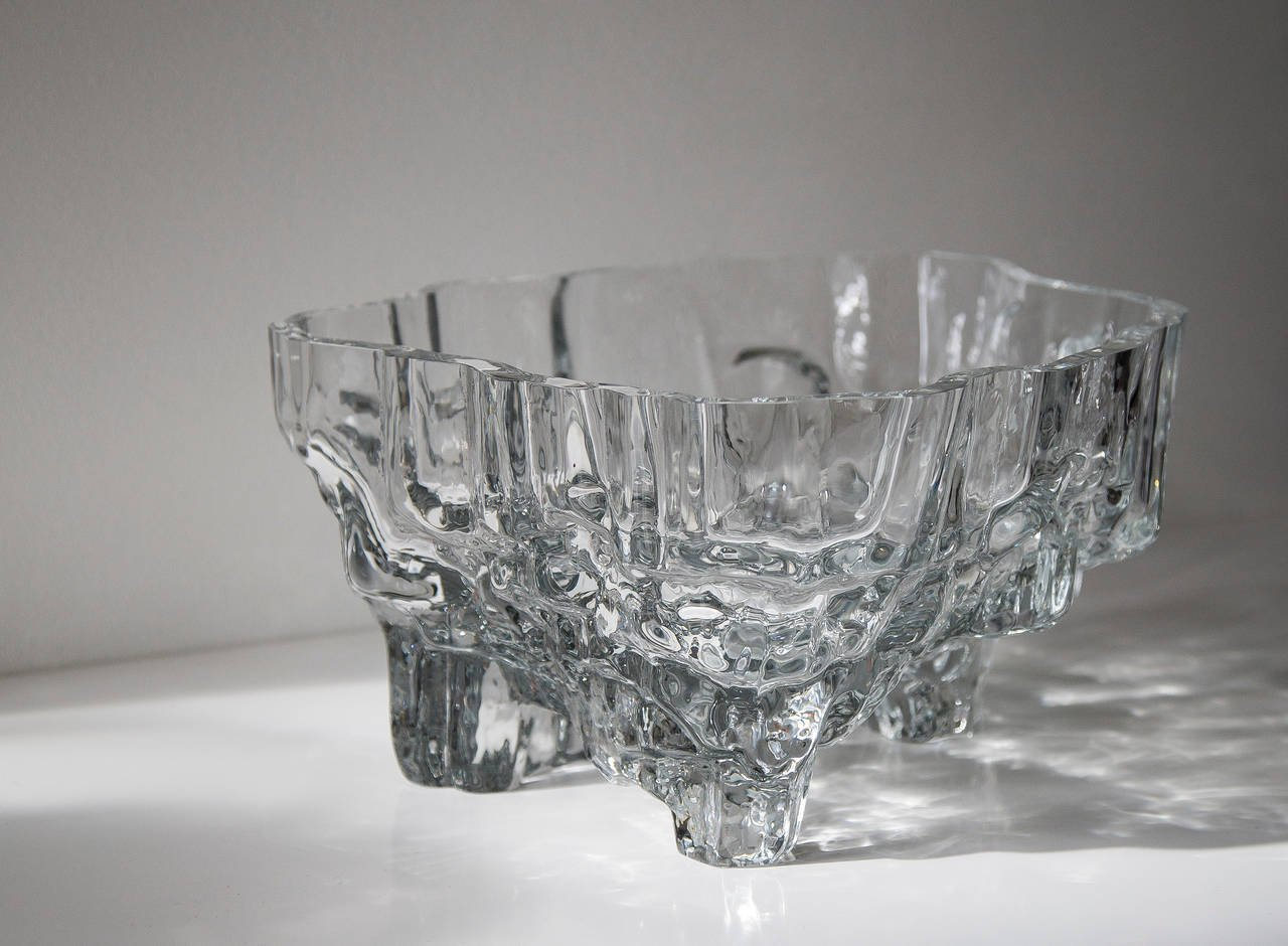 Tapio Wirkkala, Inari Glass Dish Model No. 3543 for Iittala Oy