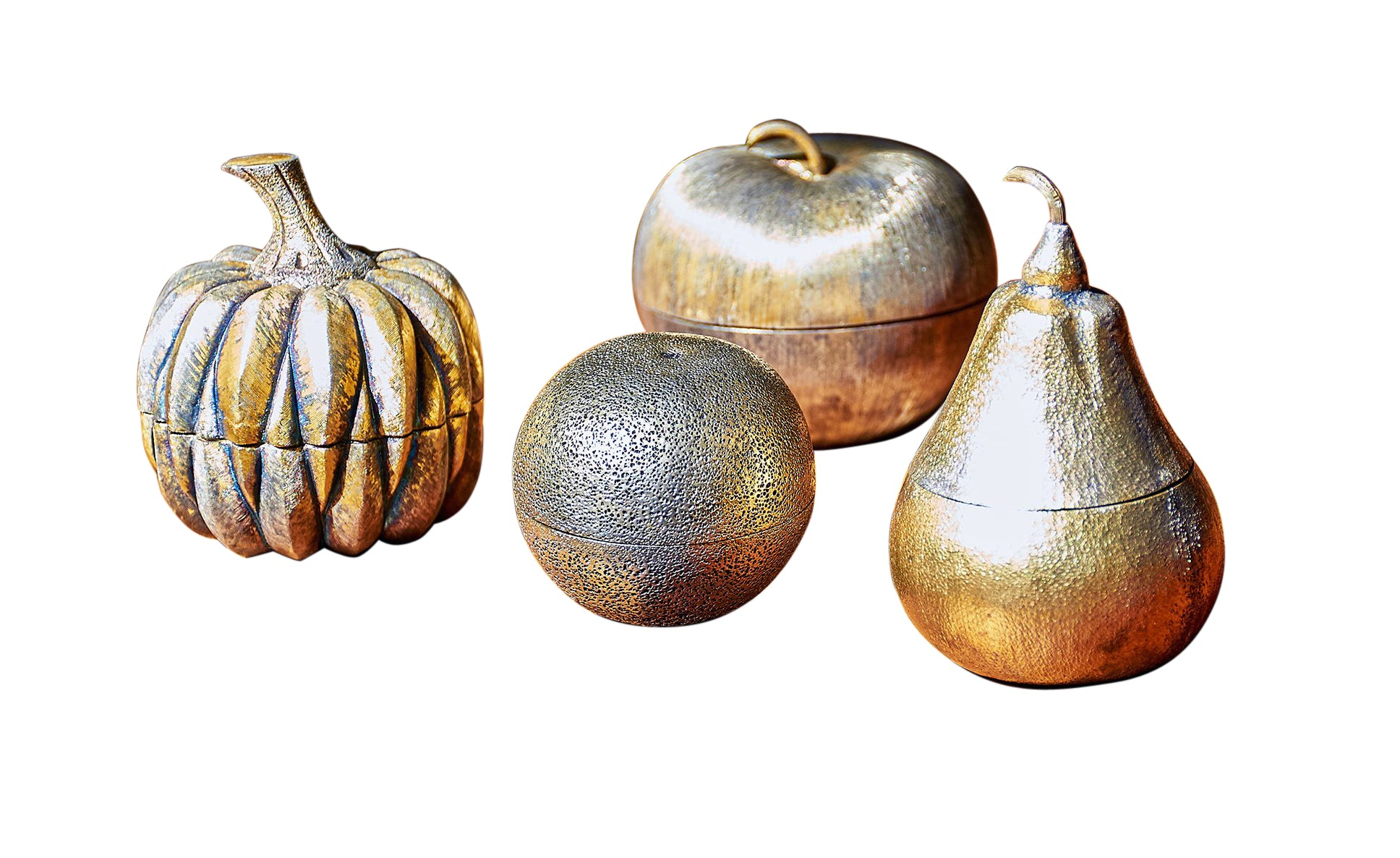 Collection of Tiffany & Co. Gilt Sterling Silver Fruit by Janna Thomas De Velarde, circa 1970's - The Space Detroit