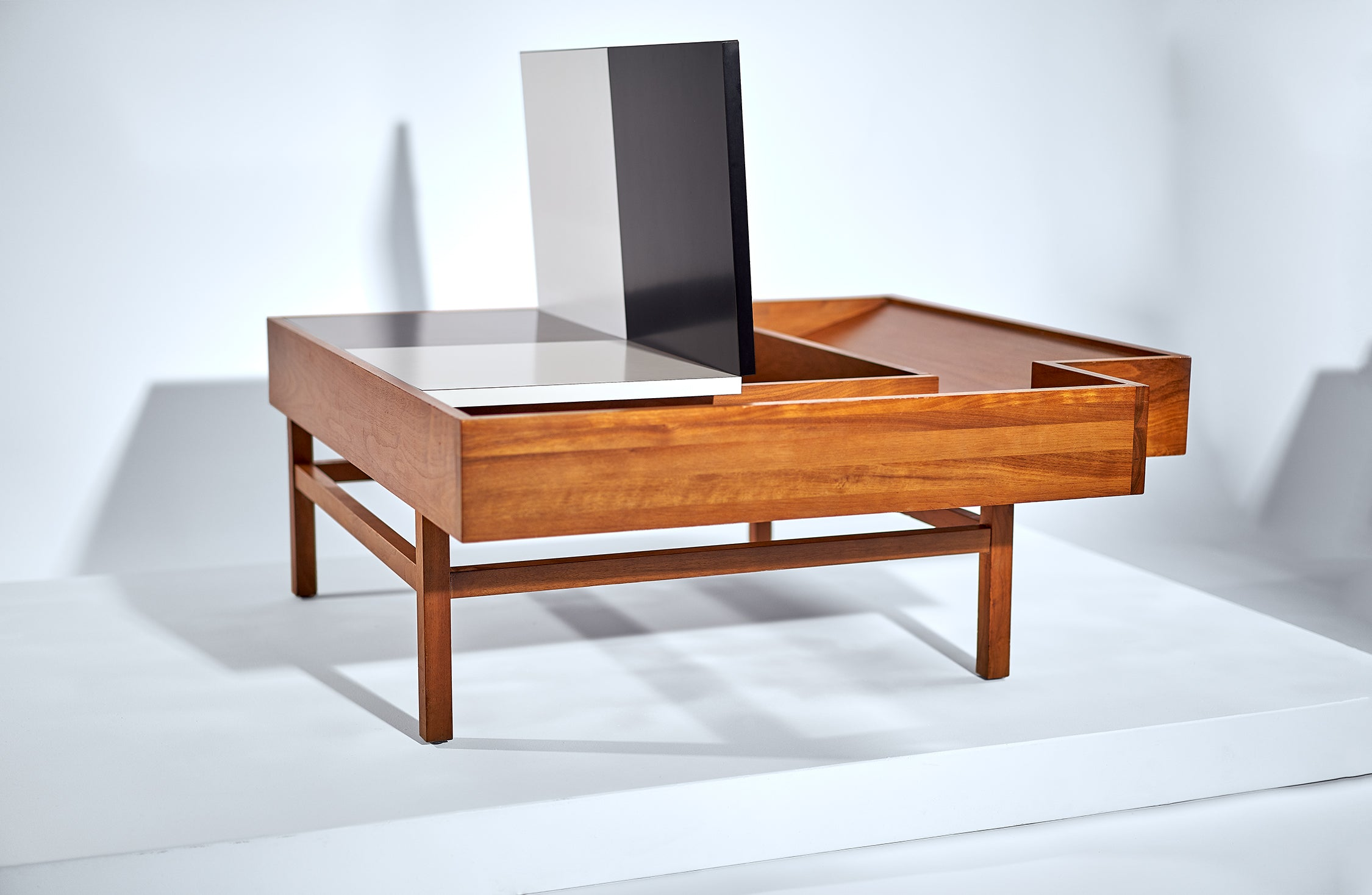 John Keal for Brown Saltman Coffee Table with Interior Storage circa 1950s