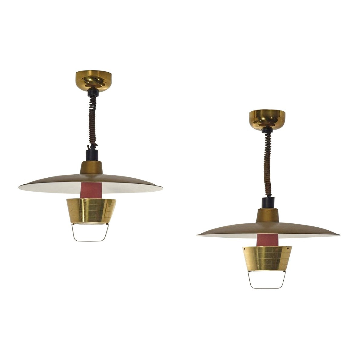 Pair of Ceiling Lights by John C. Virden Lighting Company, circa 1950's - The Space Detroit