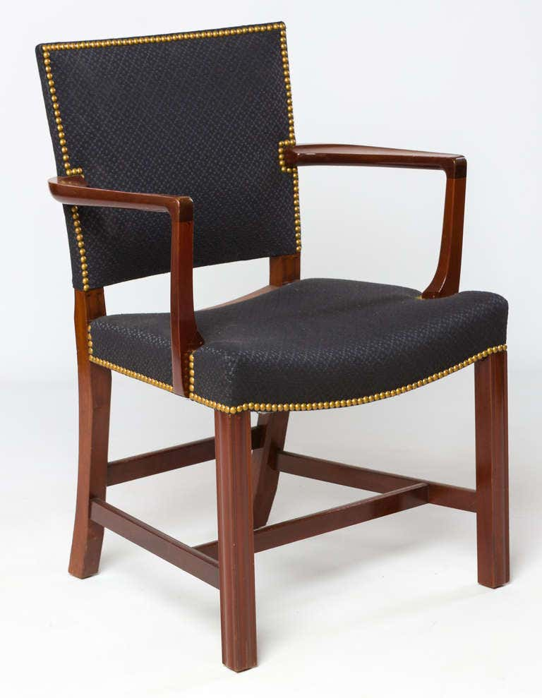 Set of Four Kaare Klint Barcelona Chairs by Rud Rasmussen 1940s