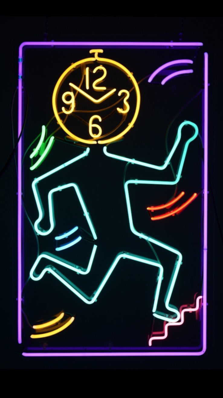 Keith Haring Clockface Neon Sign, circa 1980's - The Space Detroit
