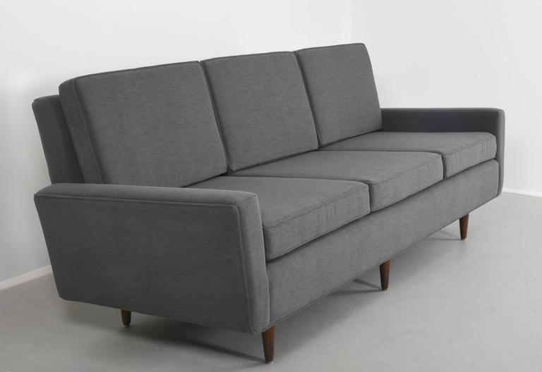 Florence Knoll Sofa ThreeSeat Sofa Model 26 circa 1947, Pair Available