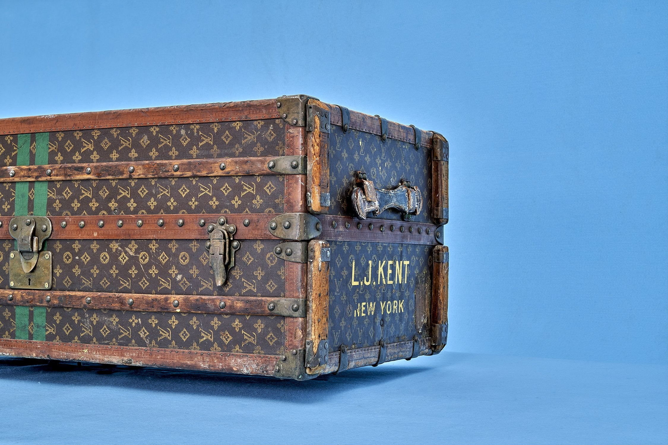 Louis Vuitton Wardrobe Monogram Steamer Trunk circa 1920s