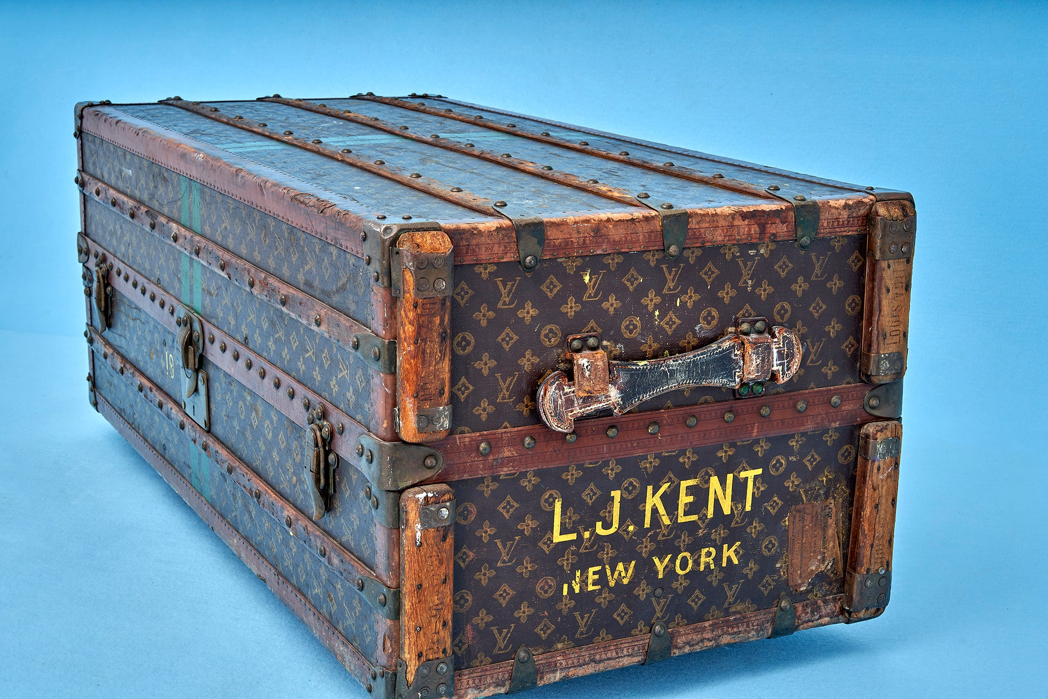 Louis Vuitton Wardrobe Monogram Steamer Trunk Vintage The Space Detroit