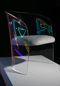 Formed Lucite Chair - The Exchange Int