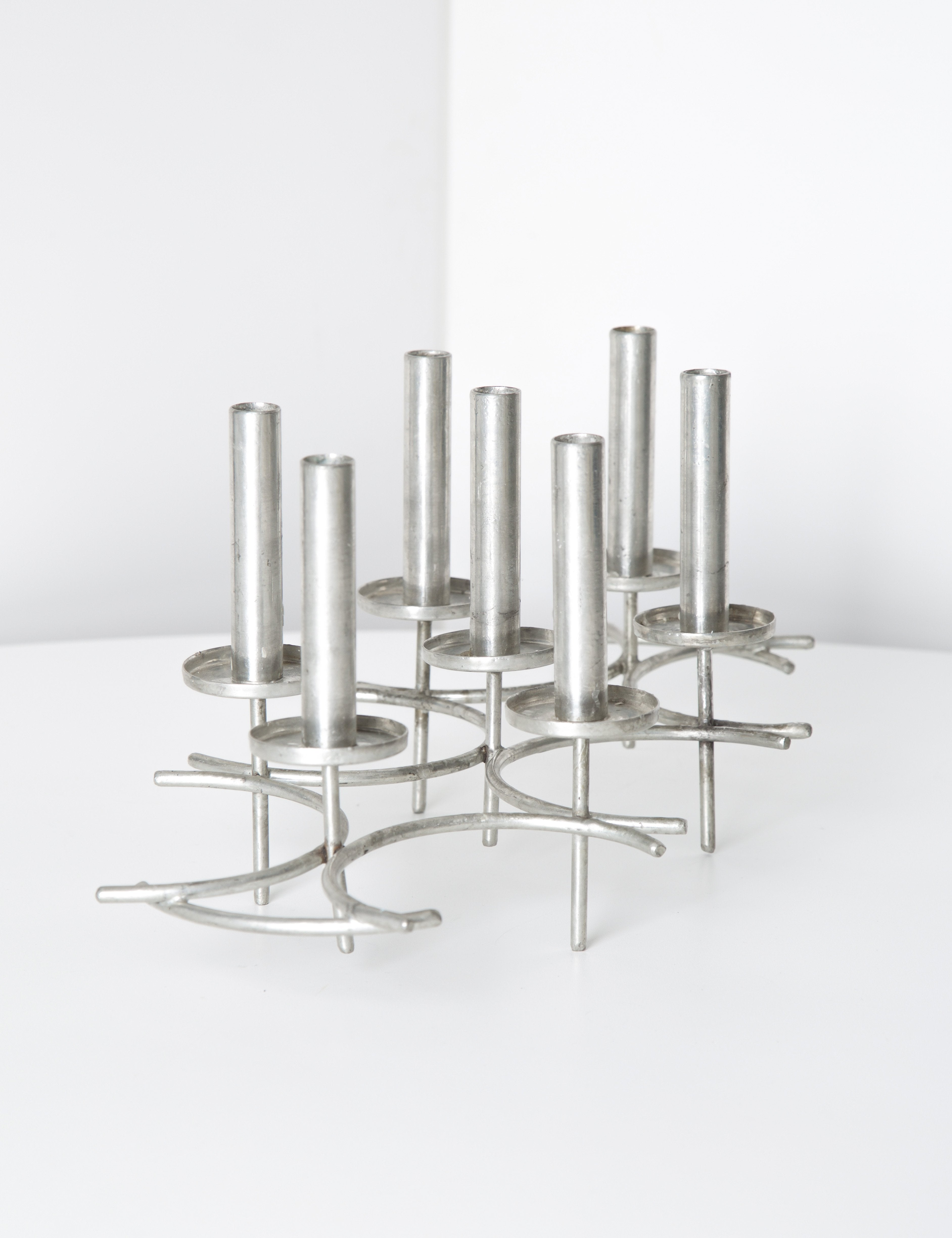 Paavo Tynell Pewter Candlesticks 1960s