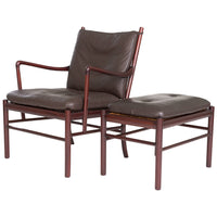 Ole Wanscher Colonial Lounge Chair and Ottoman, circa 1950's