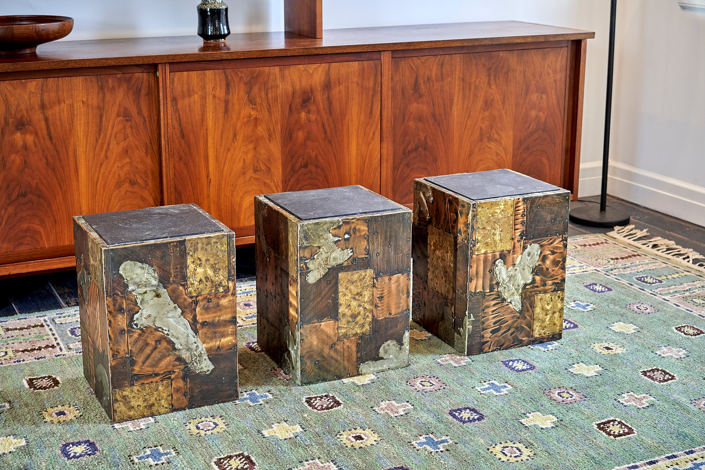 Paul Evans Side Tables Set of Three