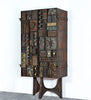 One of a Kind Paul Evans Sculpture Front Cabinet circa 1969