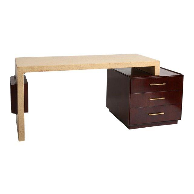 Paul Frankl Cork Desk for Johnson Furniture, 1950s - The Exchange Int