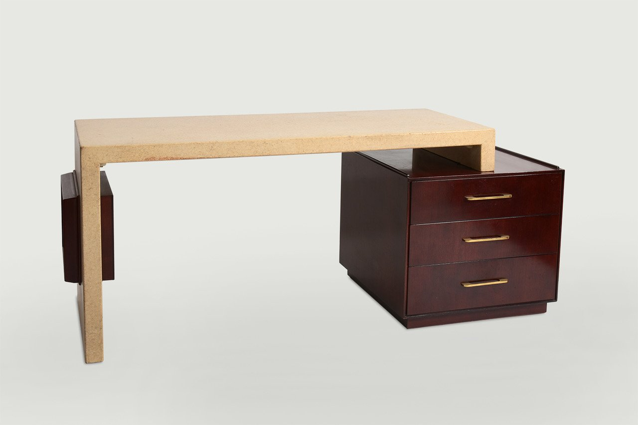 Paul Frankl Cork Desk for Johnson Furniture circa 1950s