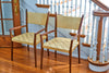 Paul McCobb Arm Chairs With Original Woven Seats circa 1950s