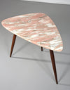 Phillip Lloyd Powell Side Table with Pink Marble Surface, 1960s - The Exchange Int