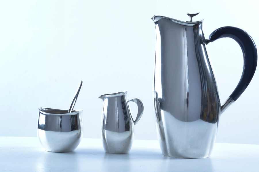 Robert King and John Van Koert for Towle Silversmiths 'Contour' Coffee or Tea Service, 1951