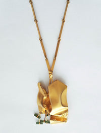"BJÖRN WECKSTRÖM, 14 K Gold Necklace ""Spring of Meriba"" Finland, 1976 - The Exchange Int"