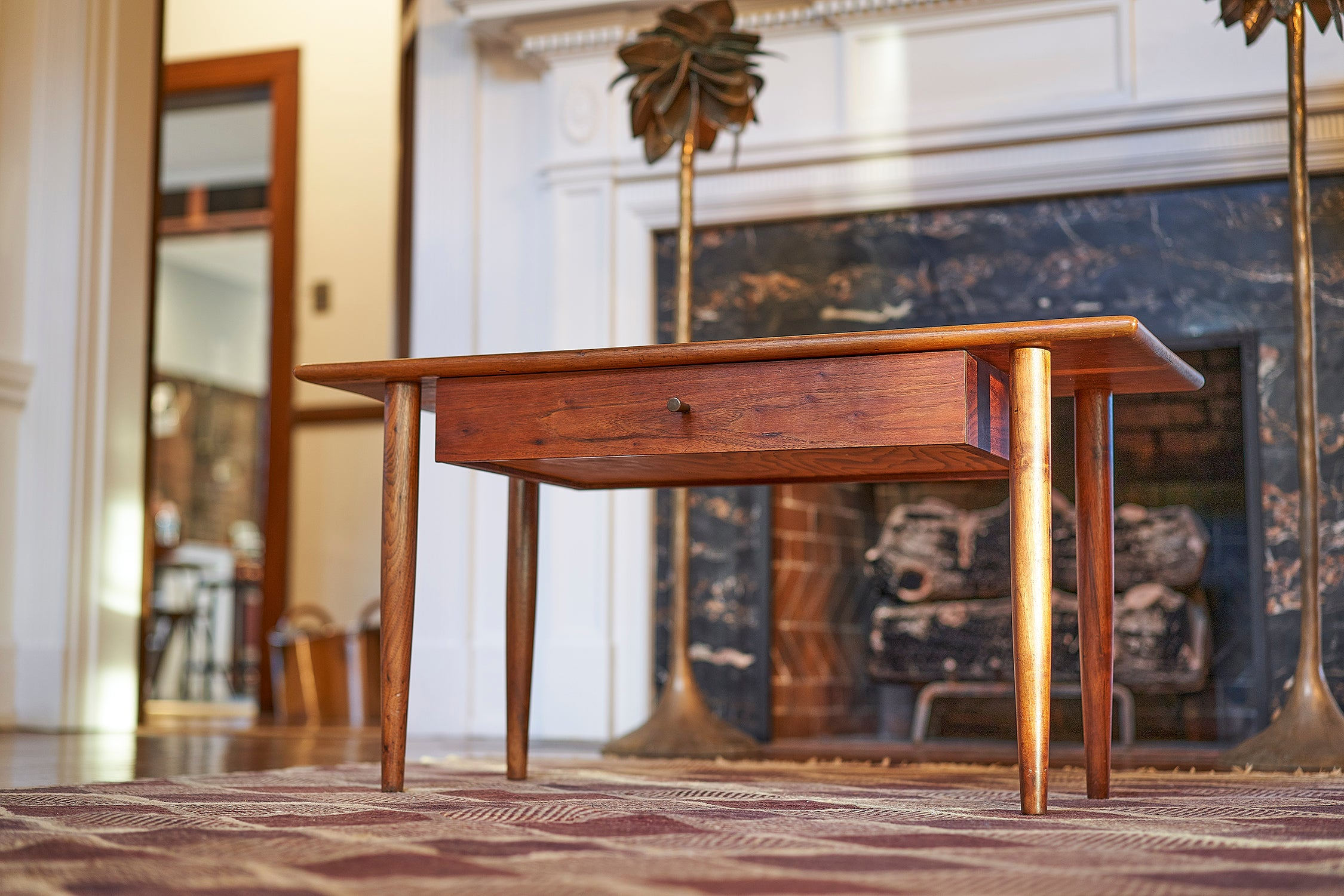 Sam Maloof Coffee Table with Single Drawer Early Work circa 1955