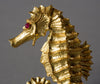 David Webb Ruby Gold Seahorse Pin / Brooch, 1970s - The Exchange Int