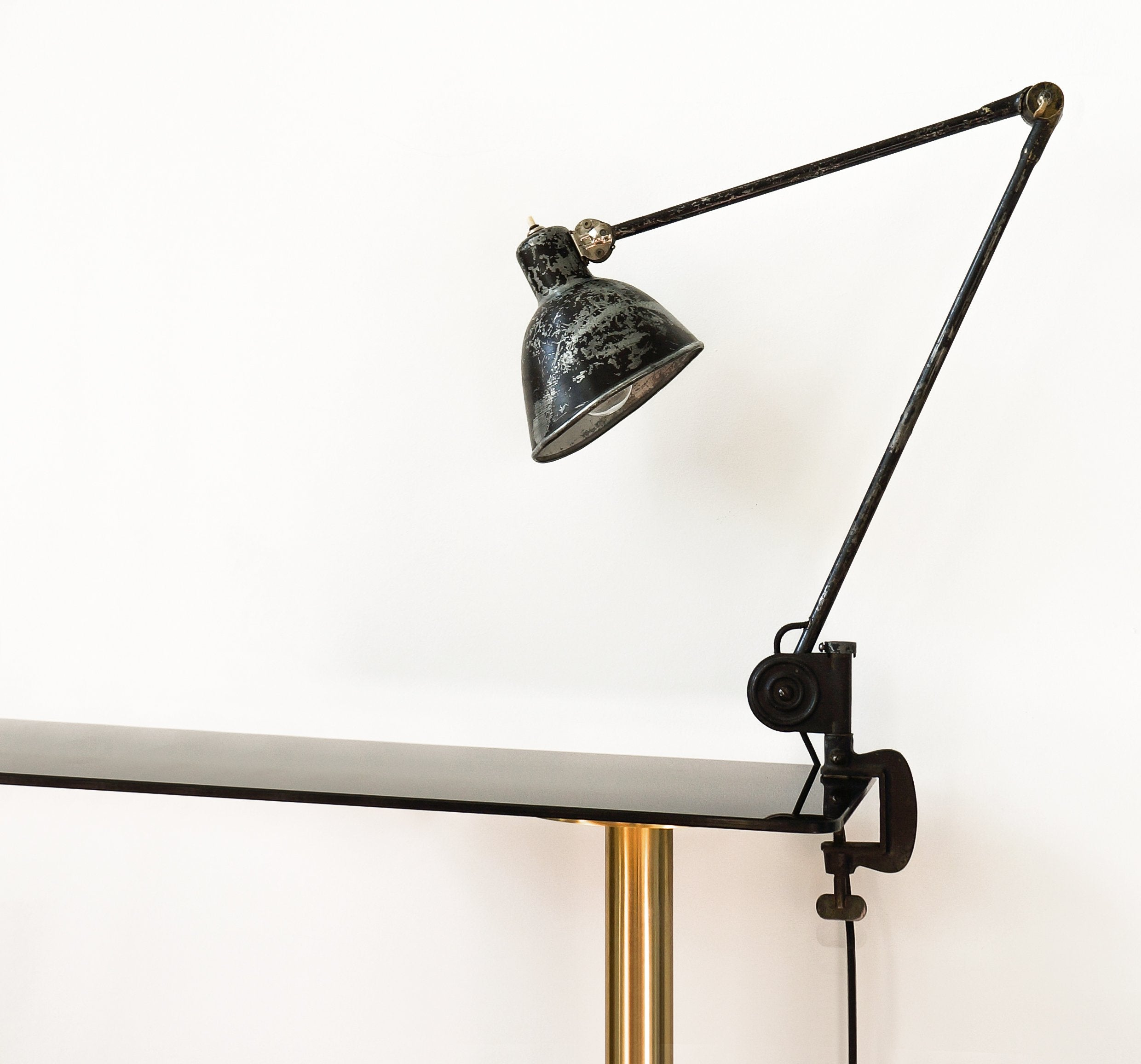 Early Paavo Tynell, Adjustable Desk Lamp, Taito Oy