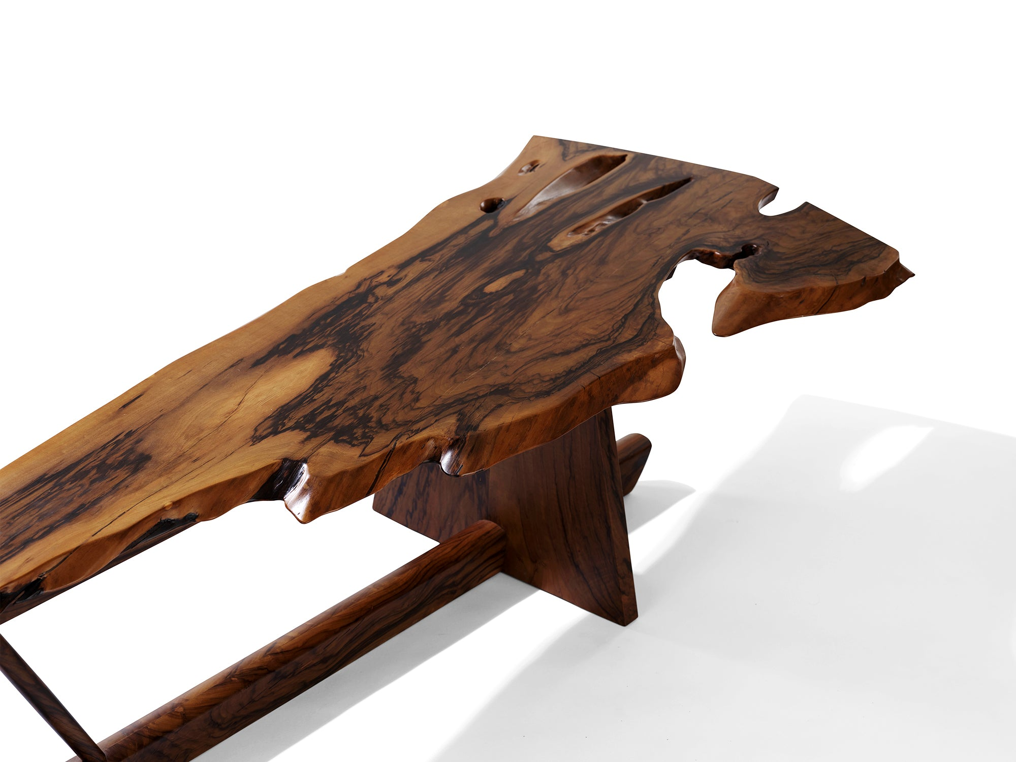 George Nakashima Italian Olive Minguren II Coffee Table