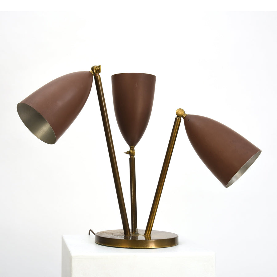 Rare Greta Magnusson-Grossman Table Lamp with Adjustable Shades, 1948