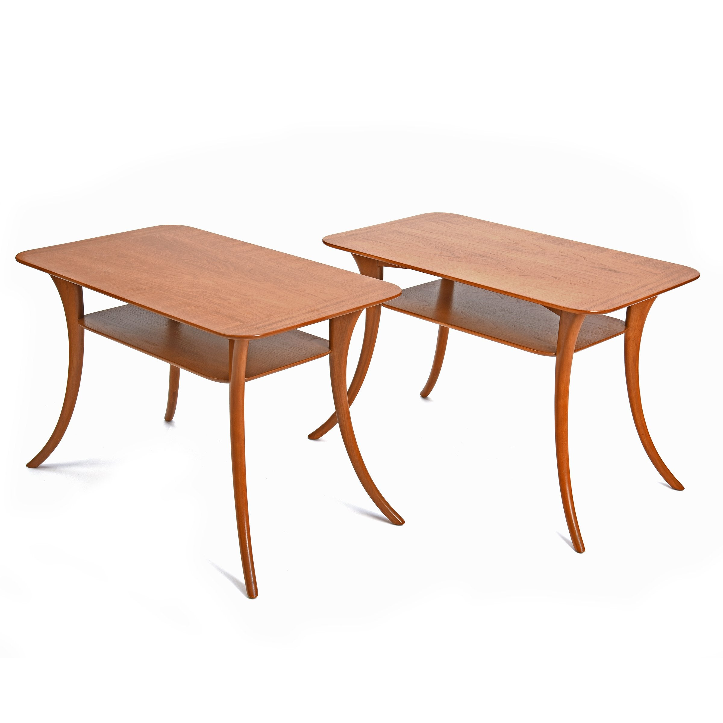 [SOLD] Klismos End Tables by Terence Harold Robsjohn-Gibbings for Widdicomb, Pair, circa 1950s