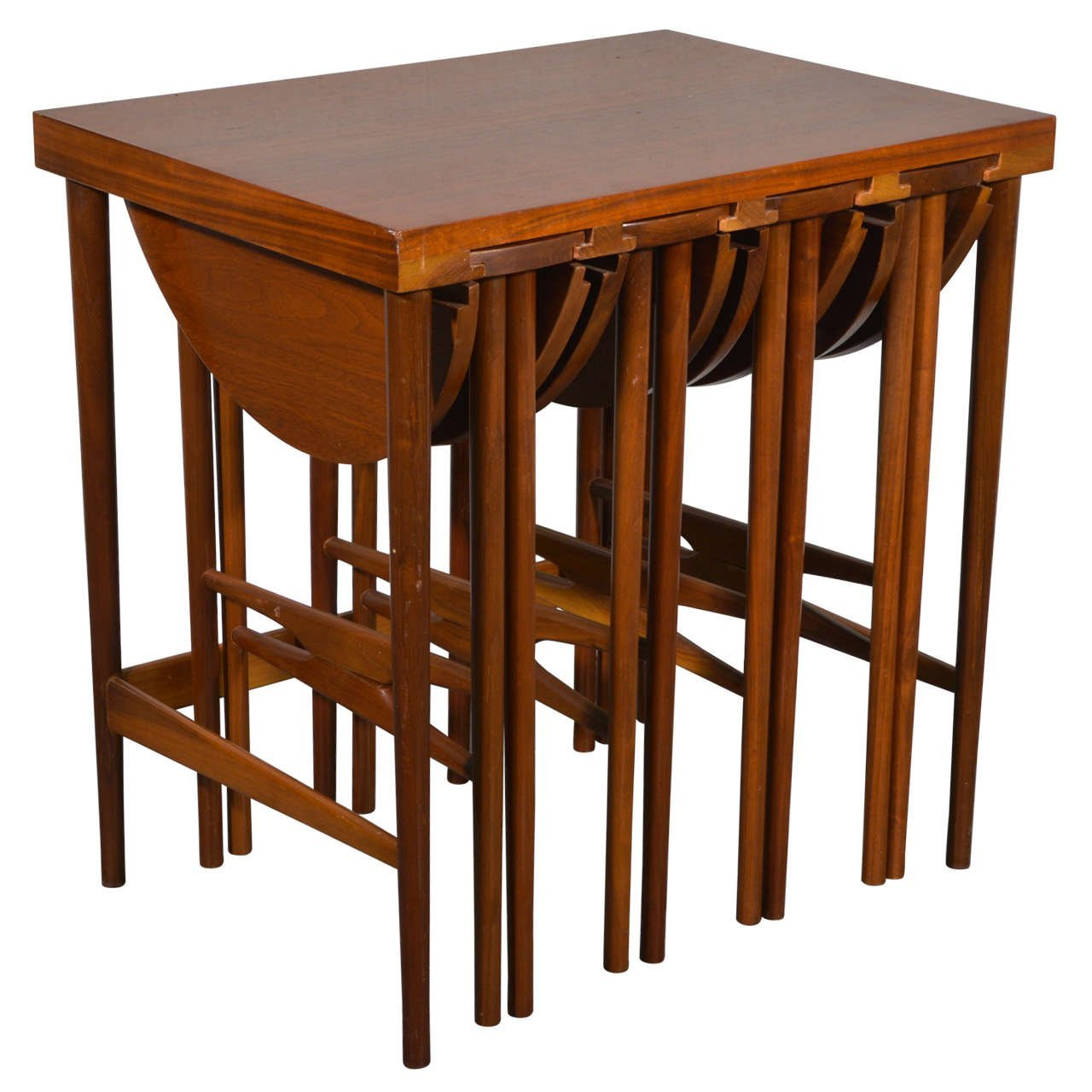 Bertha Schaefer for Singer & Sons Side Table with Set of Four Occasional Tables, 1950s - The Exchange Int