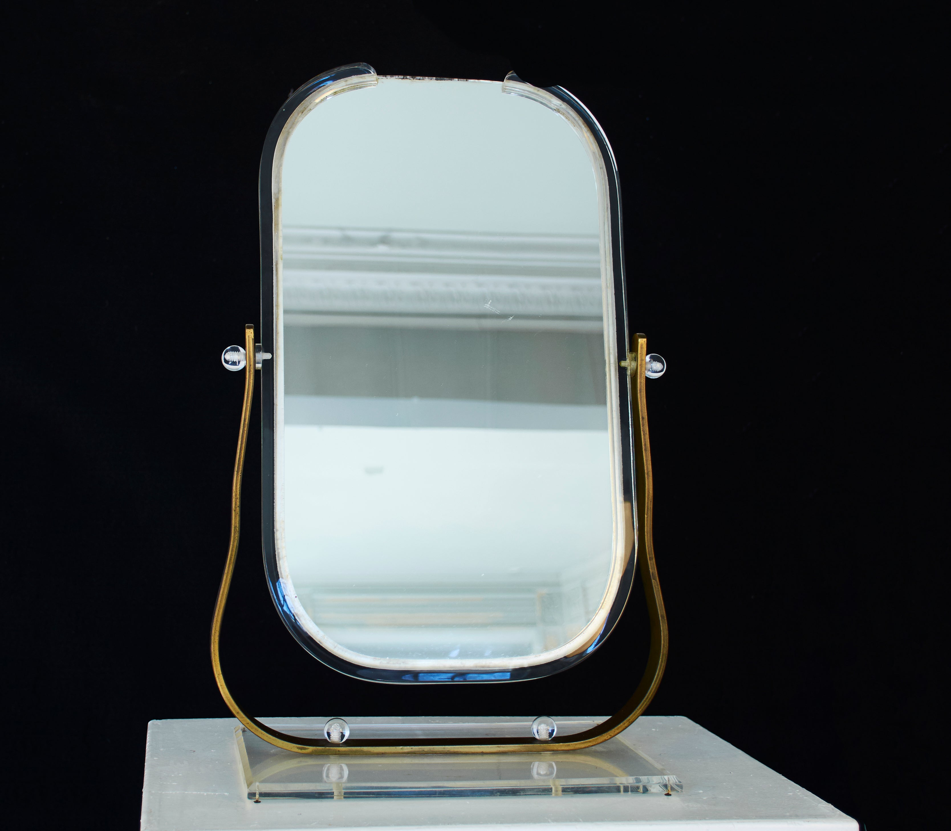 French Deco Two Sided Table Mirror circa 1960s