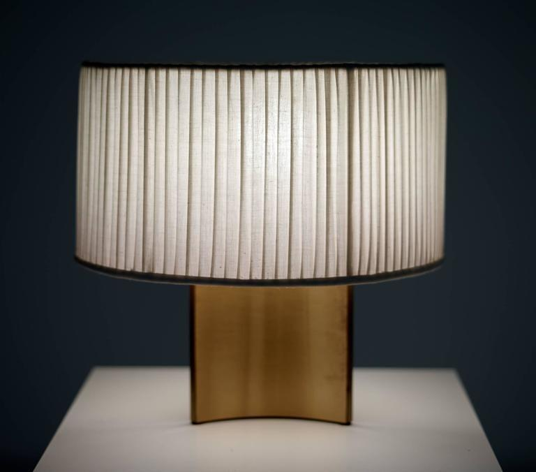 Paavo Tynell Lamp with Linen Shade circa 1945