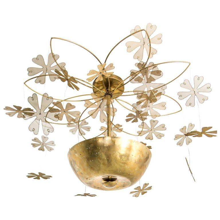 Paavo Tynell Snowflake Chandelier, 1950s - The Exchange Int