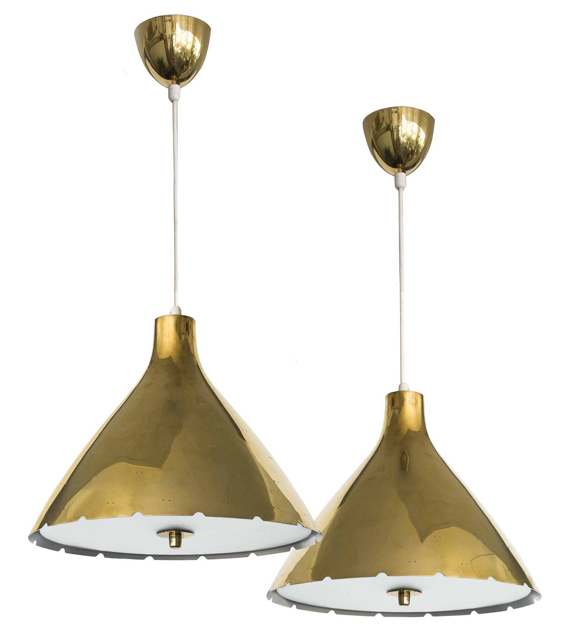 Pair of Paavo Tynell Ceiling Lamps, Taito Oy - The Exchange Int